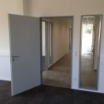 Tür- und Fensterzargen-Einbau, Verglasung